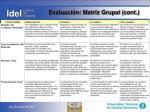 evaluaci n matriz grupal cont