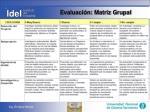 evaluaci n matriz grupal