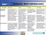 evaluaci n matriz individual cont