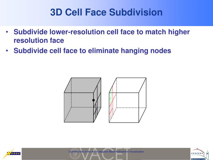 3D Cell Face Subdivision