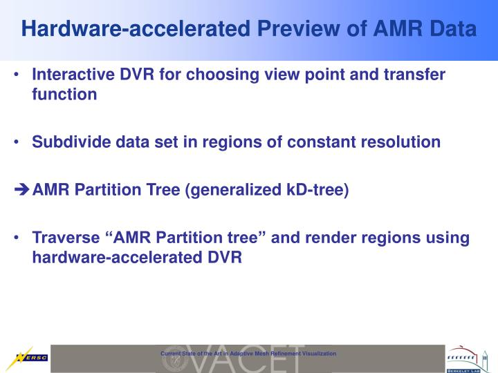 Hardware-accelerated Preview of AMR Data