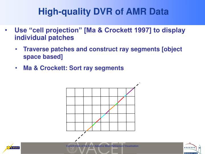 High-quality DVR of AMR Data