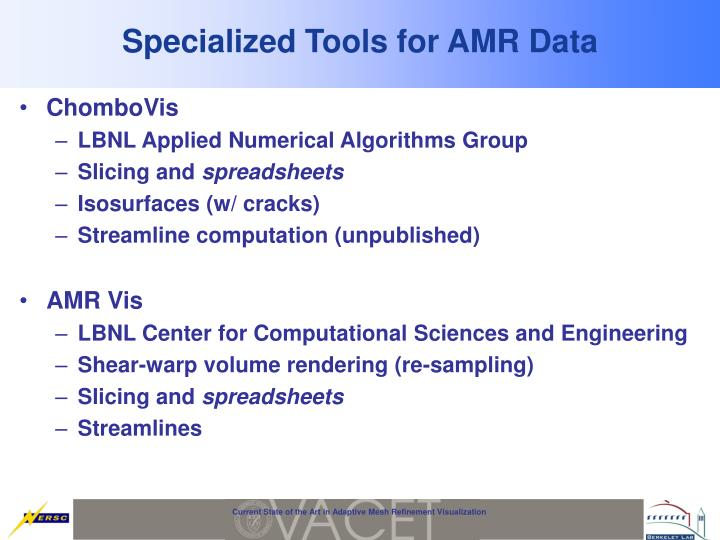 Specialized Tools for AMR Data