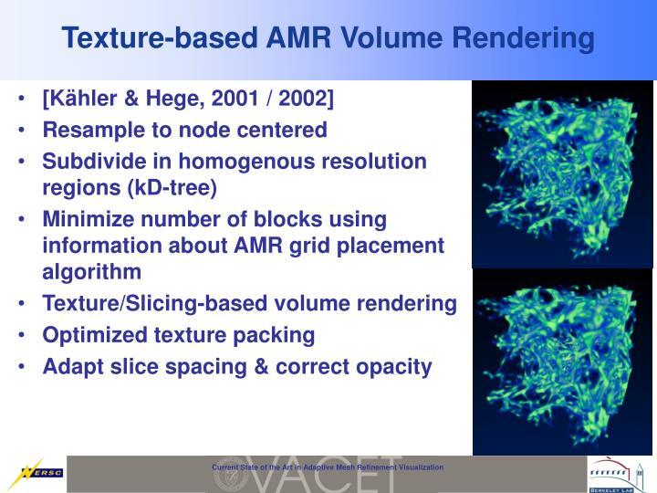 Texture-based AMR Volume Rendering