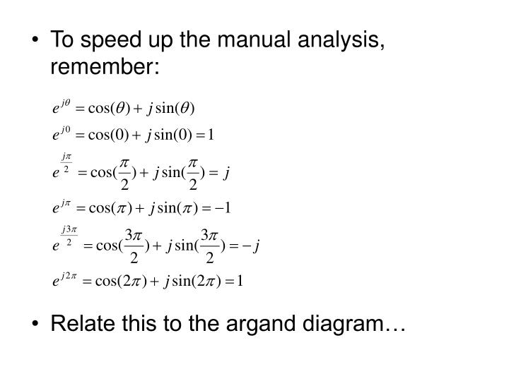 To speed up the manual analysis, remember: