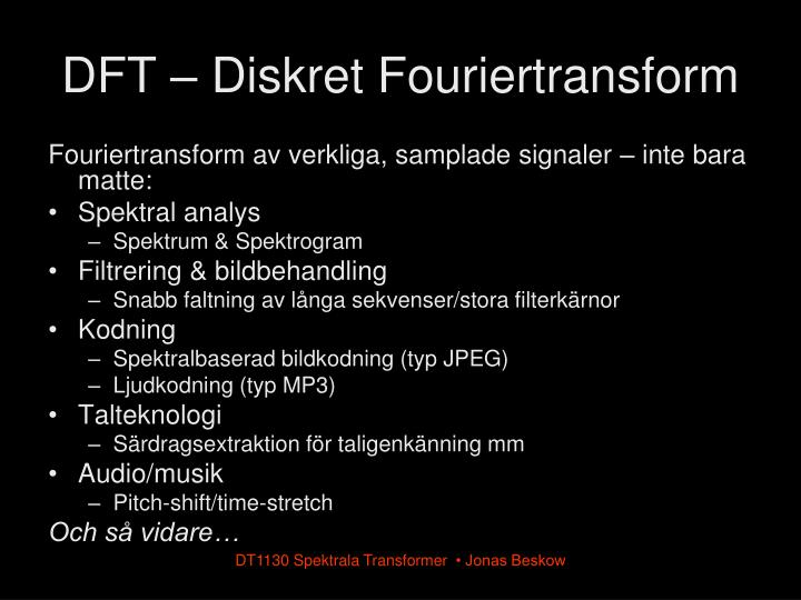 DFT – Diskret Fouriertransform