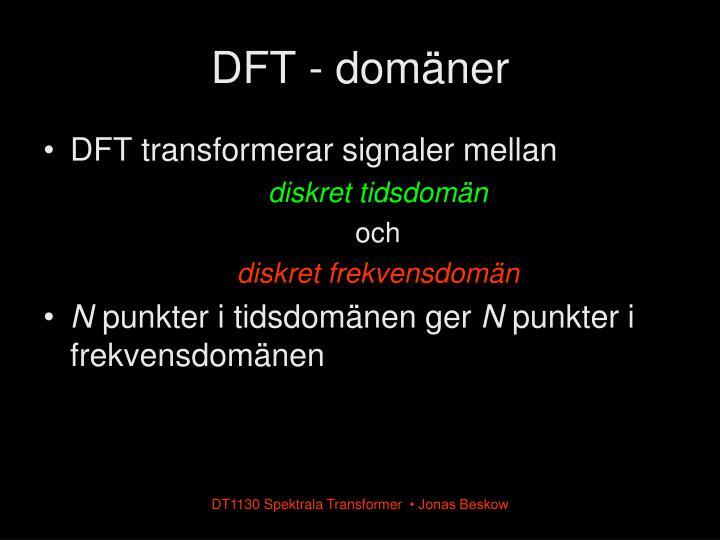 DFT - domäner