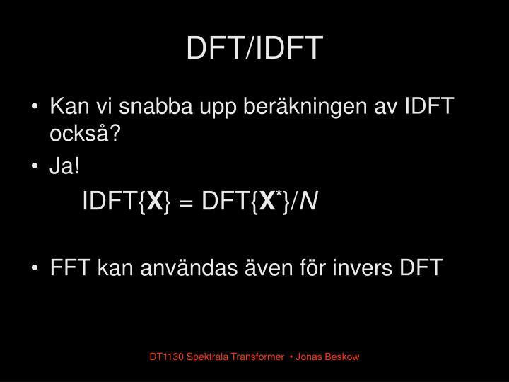 DFT/IDFT