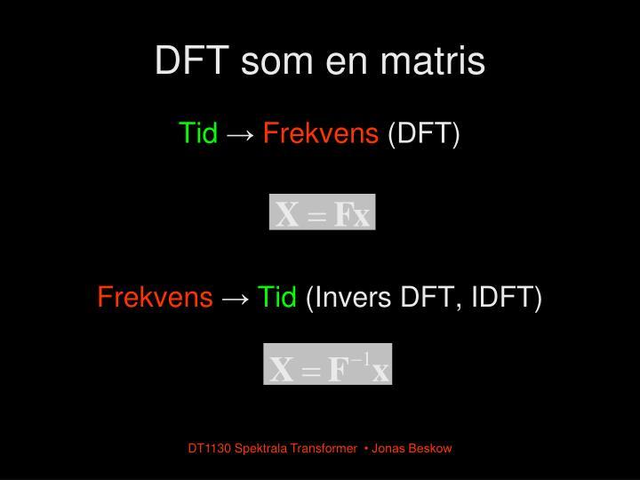 DFT som en matris