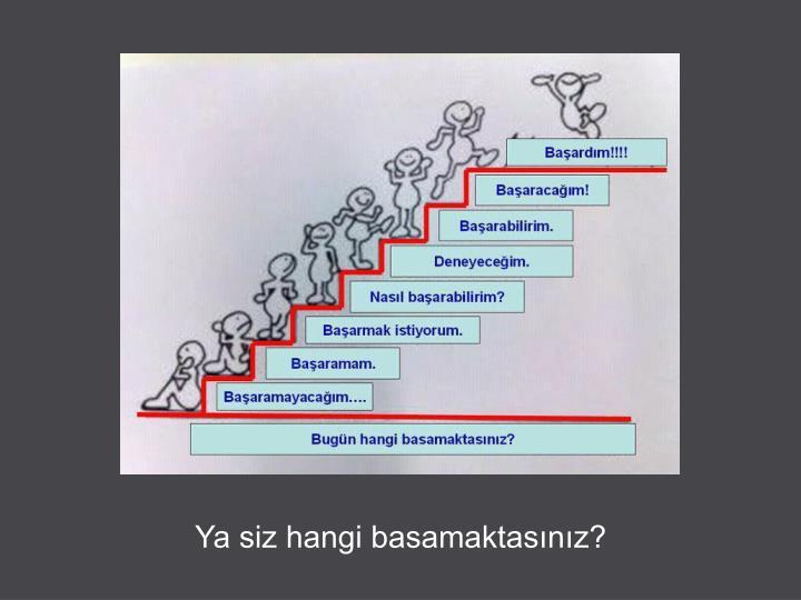 Ya siz hangi basamaktasınız?