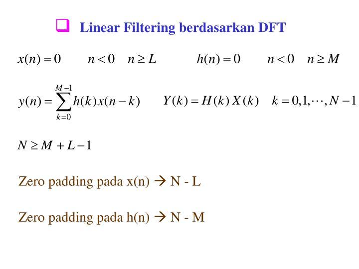 Linear Filtering berdasarkan DFT