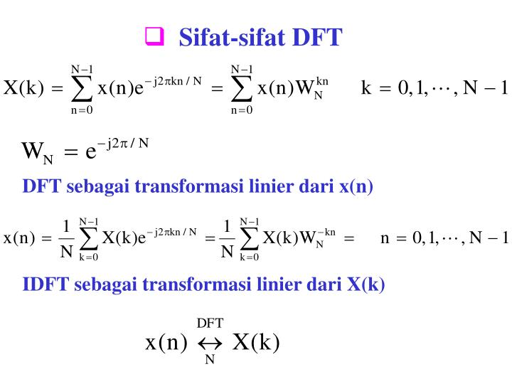 Sifat-sifat DFT