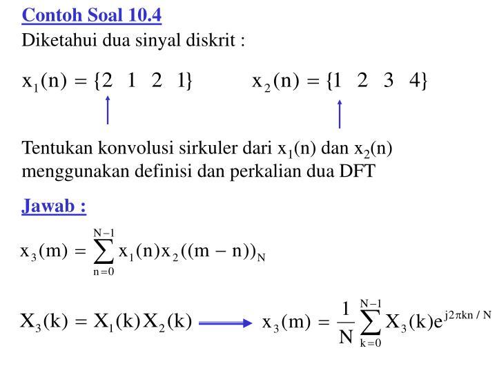 Contoh Soal 10.4