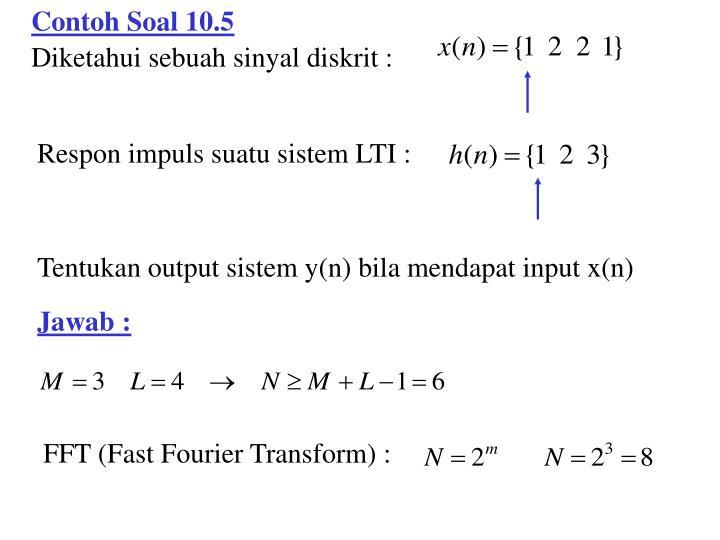 Contoh Soal 10.5