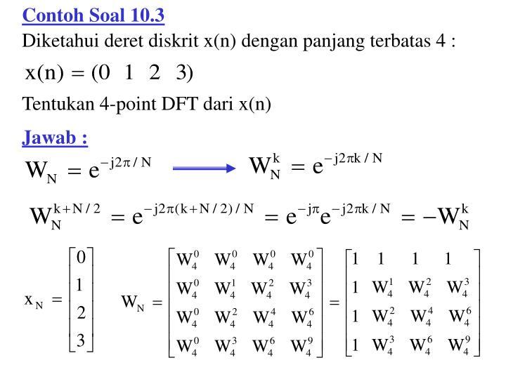 Contoh Soal 10.3
