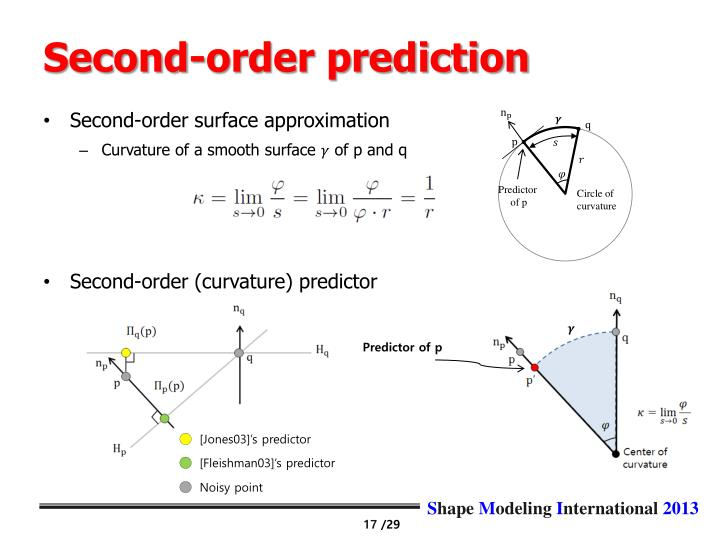 Second-order prediction