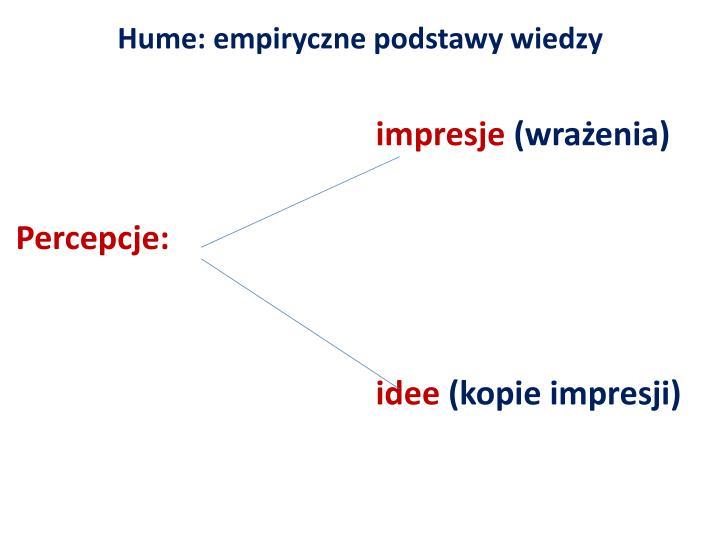 Hume: empiryczne
