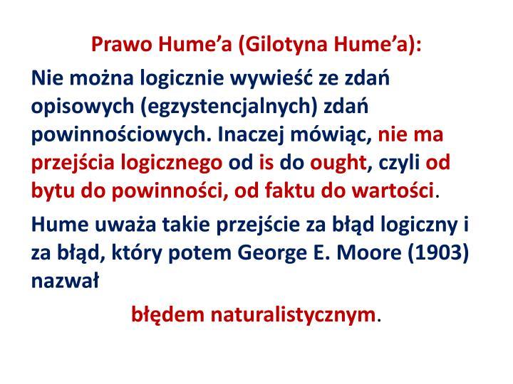 Prawo Hume'a (Gilotyna Hume'a):