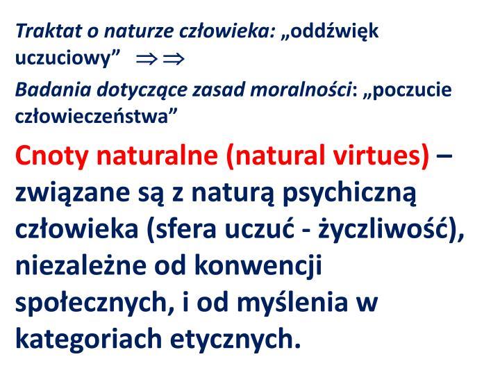 Traktat o naturze człowieka: