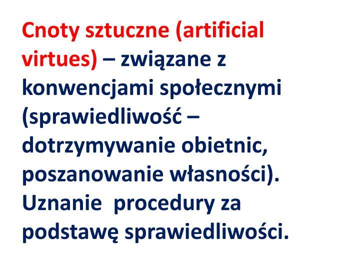 Cnoty sztuczne (
