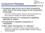 component metadata