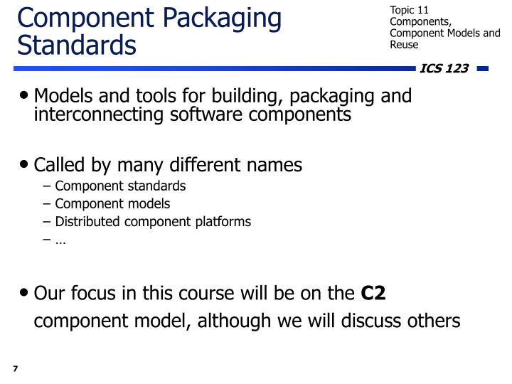 Component Packaging Standards