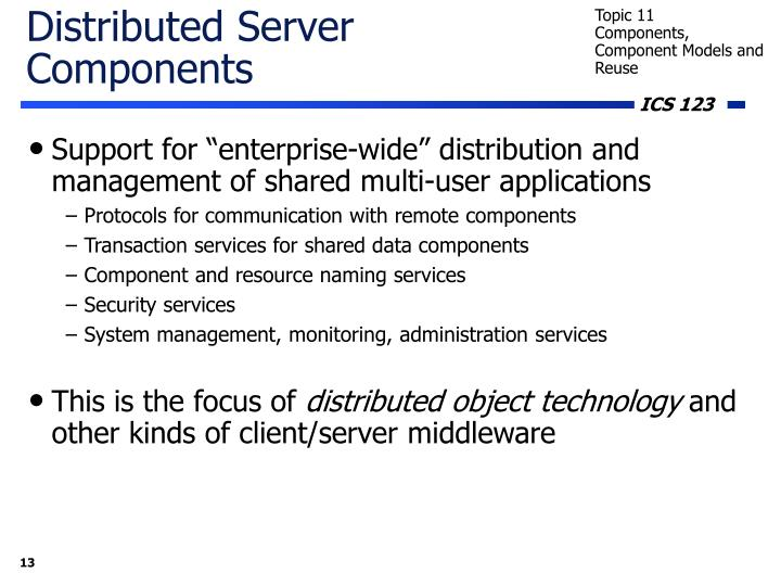 Distributed Server Components
