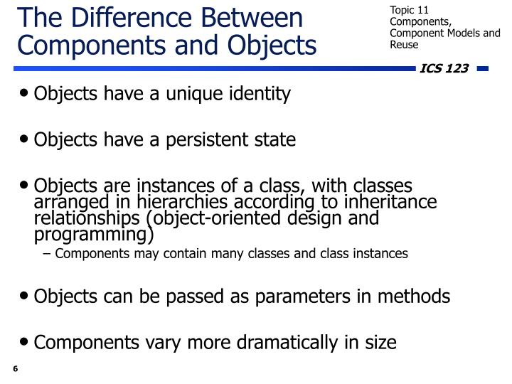 The Difference Between Components and Objects