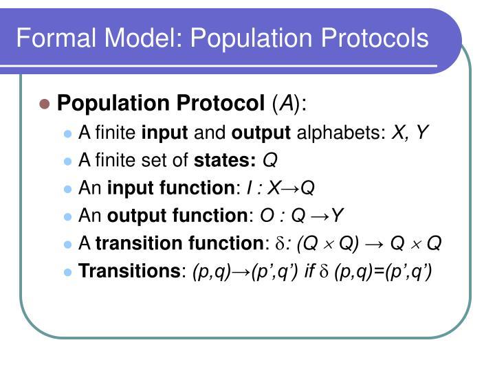 Formal Model: Population Protocols