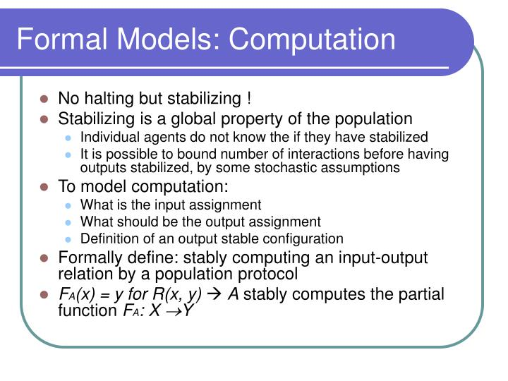 Formal Models: Computation