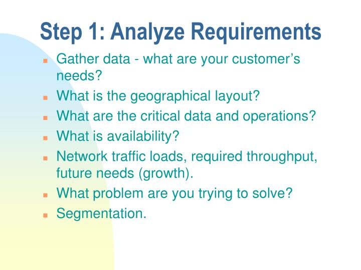 Step 1: Analyze Requirements