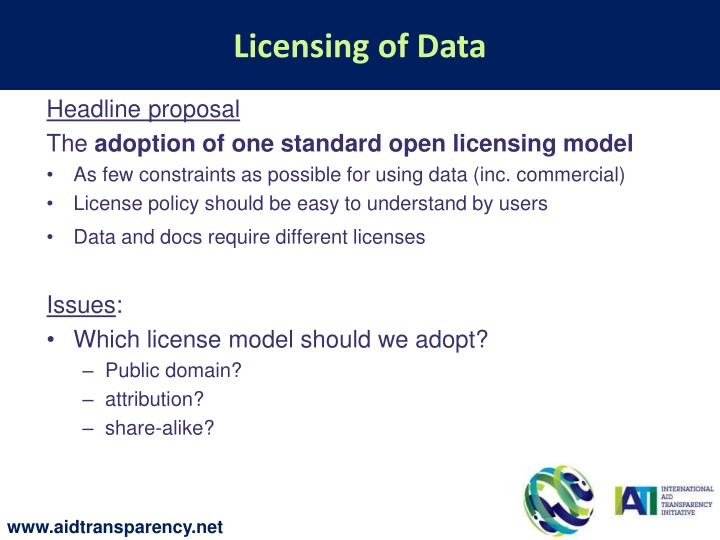 Licensing of Data