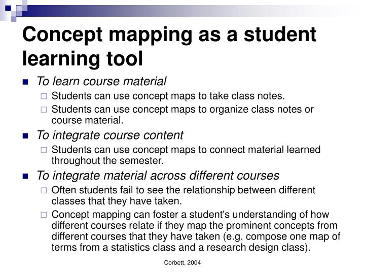 Concept mapping as a student learning tool