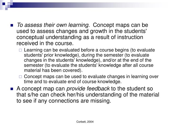 To assess their own learning.