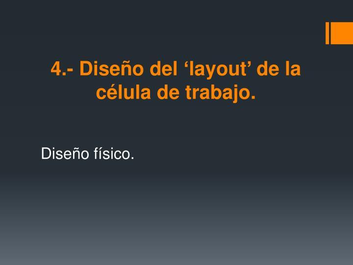 4.- Diseño del 'layout' de la célula de