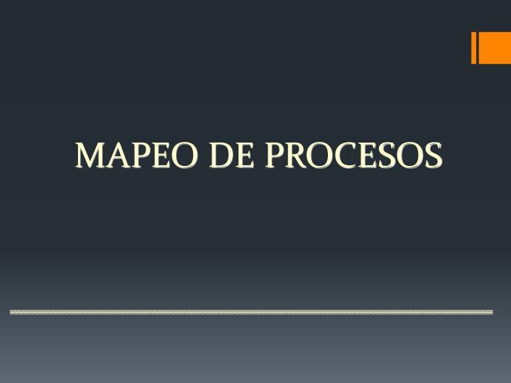 MAPEO DE PROCESOS