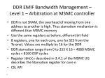 ddr emif bandwidth management level 1 arbitration at msmc controller
