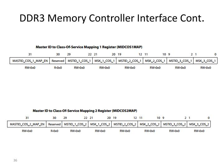 DDR3 Memory Controller Interface Cont