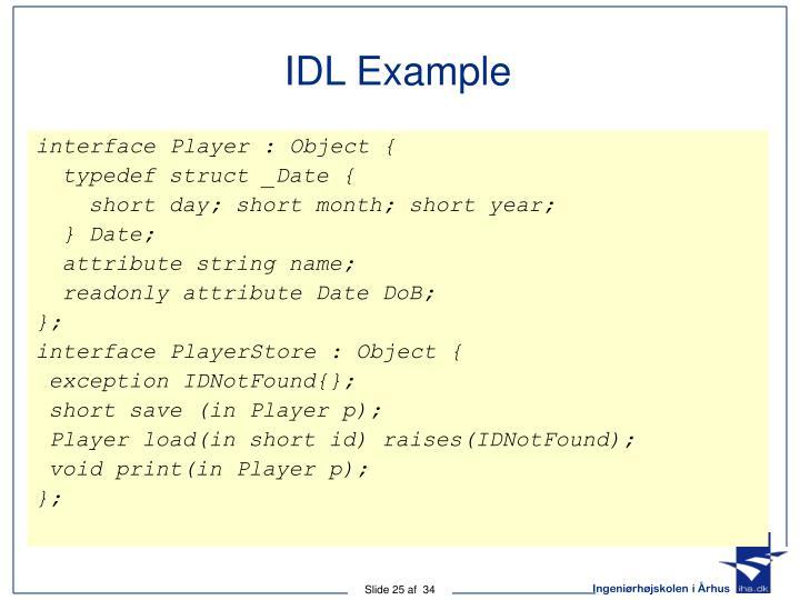 IDL Example