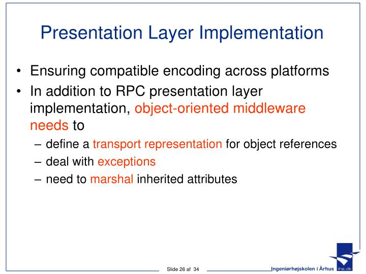 Presentation Layer Implementation