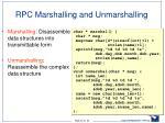 rpc marshalling and unmarshalling