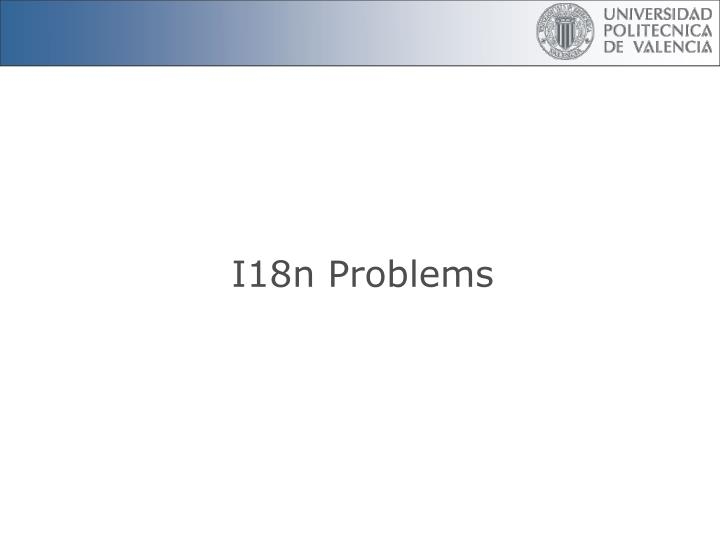 I18n Problems