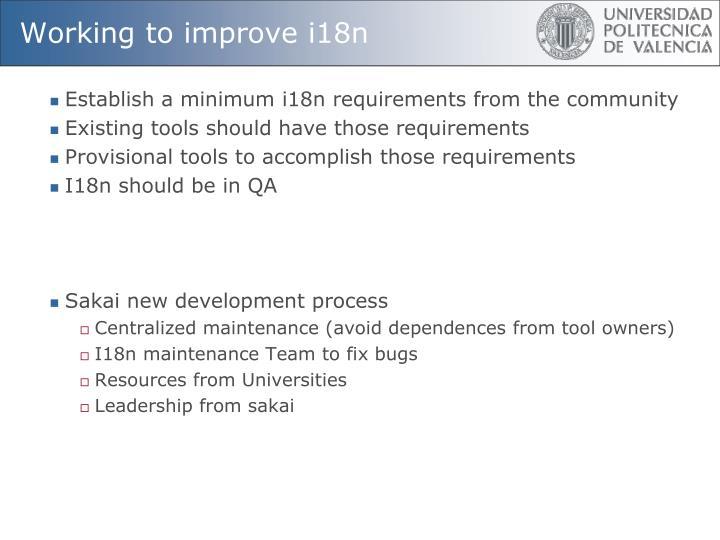 Working to improve i18n