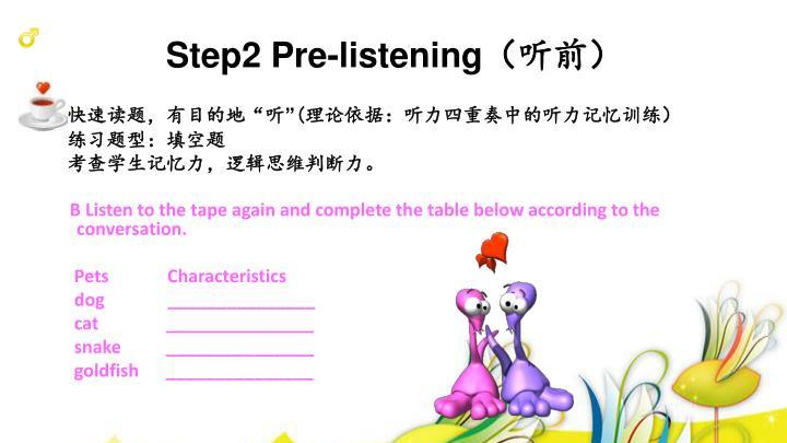 Step2 Pre-listening