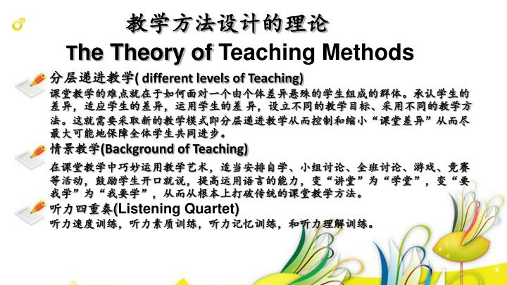 教学方法设计的理论