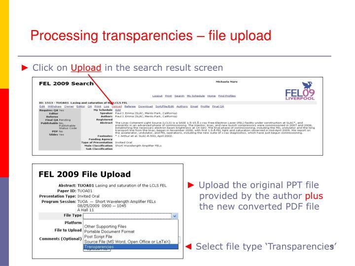 FEL 2009 File Upload