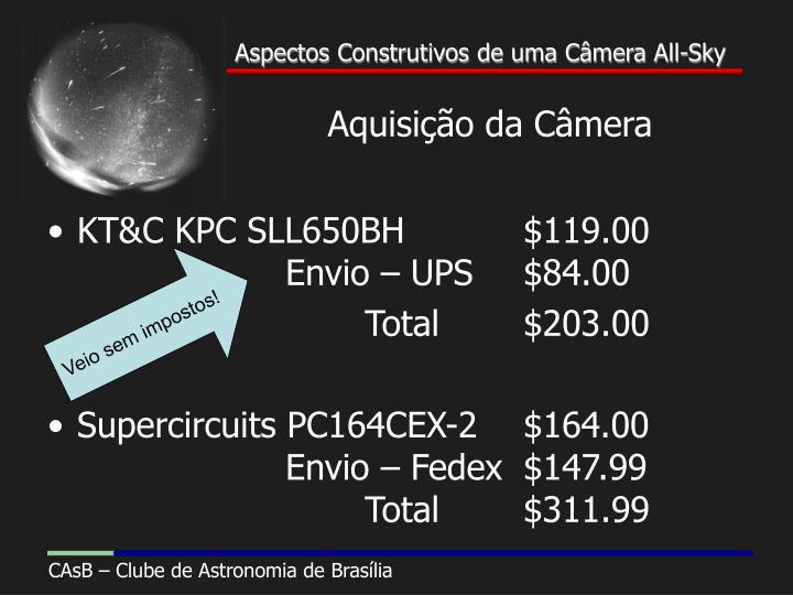 Aquisição da Câmera