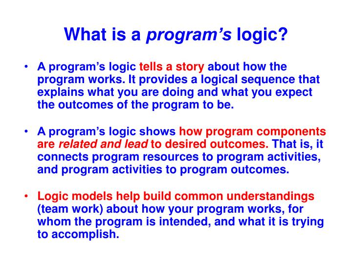 What is a program s logic