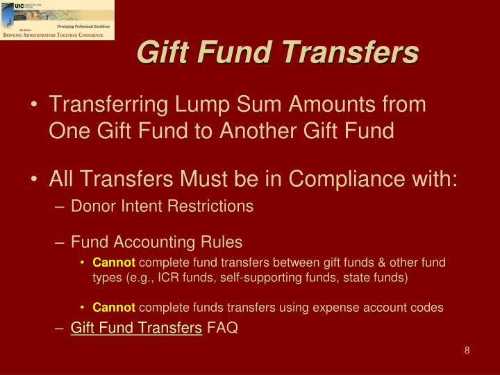 Gift Fund Transfers
