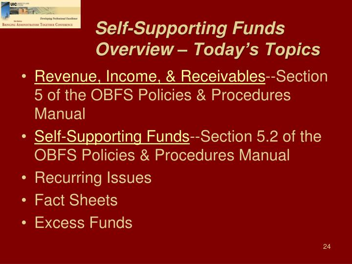 Self-Supporting Funds